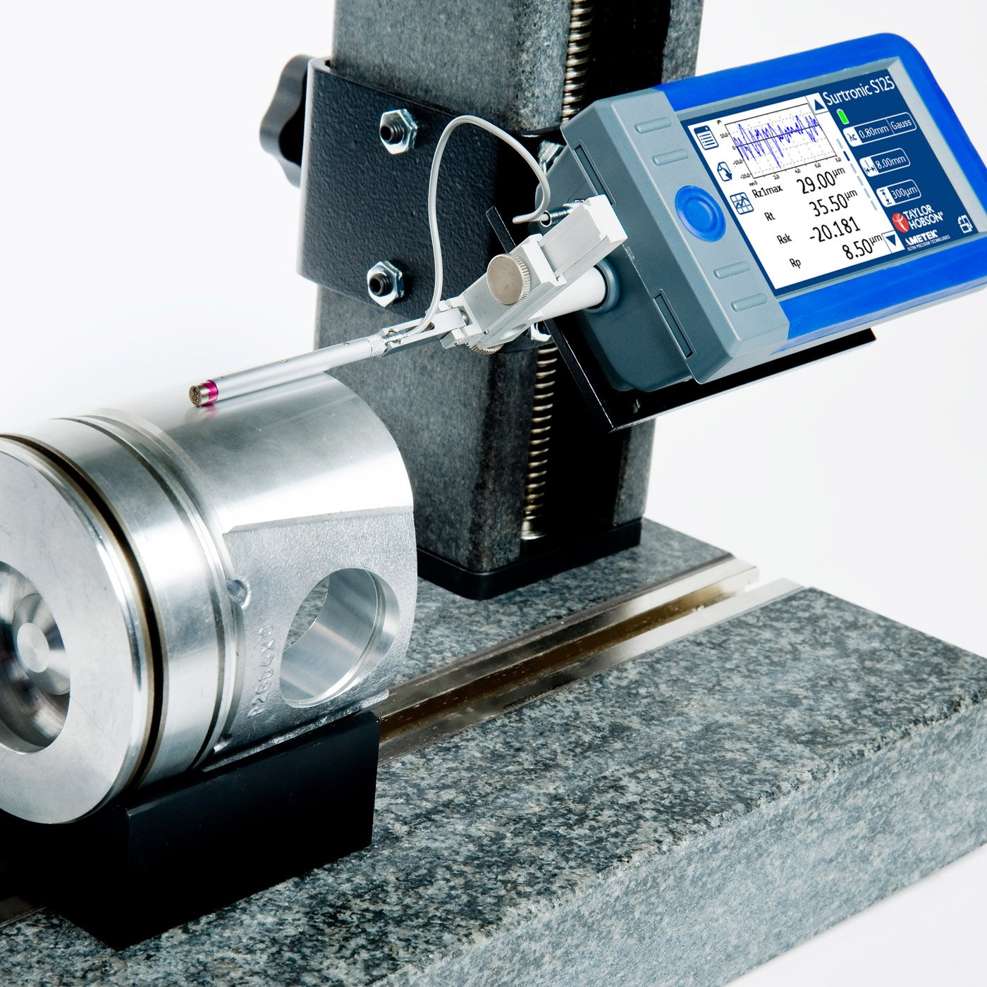 Surtronic S-100 is a fast measurement handheld surface roughness tester